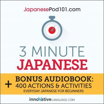 3-Minute Japanese: Everyday Japanese for Beginners audiobooks