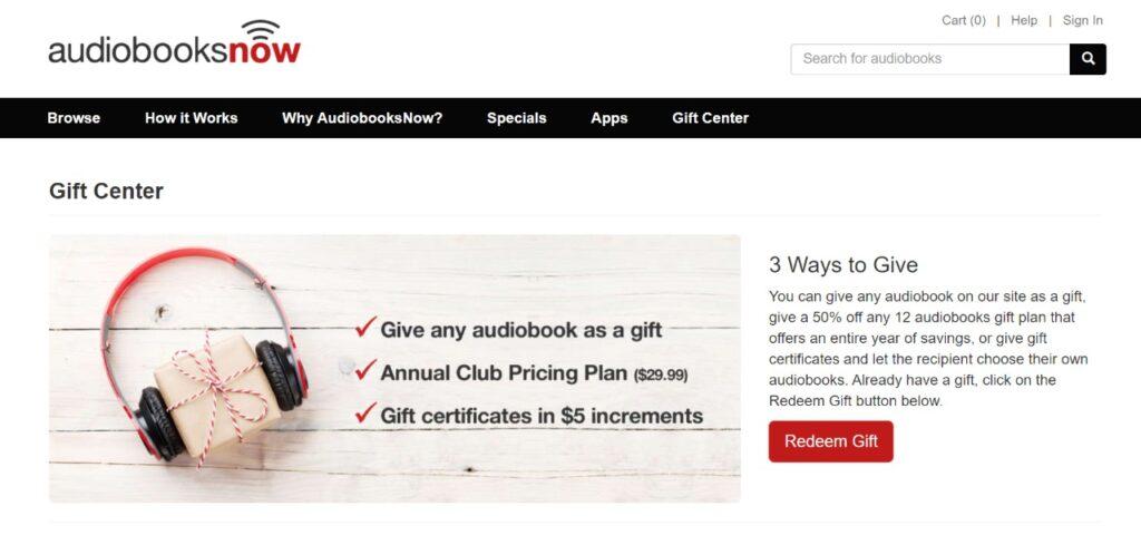audiobooksnow gift