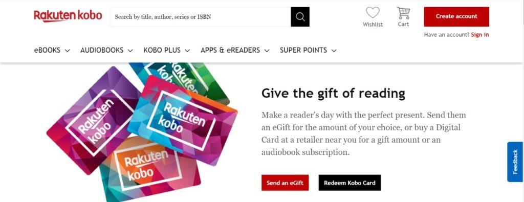 kobo audiobooks gift